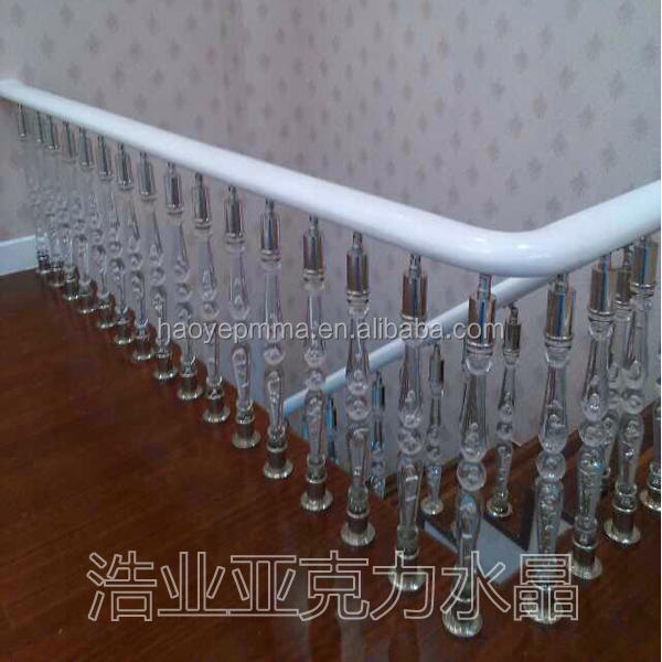 Good quality crush resistant acrylic handrail
