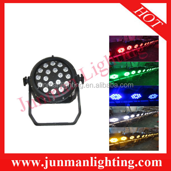 18*18W RGBWAUV 6 in 1 Waterproof LED Par Light Led Par64 Led Par Light DJ Stage Lighting