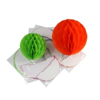 Baby Shower Wedding Birthday Holiday Party Decoration Supplies Wholesale Custom Craft Tissue Paper Flower Honeycomb Paper Balls