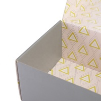High quality custom printing geometric stars pretty packaging box
