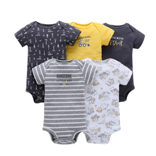 Summer baby boy's daily onesie new born baby's clothes baby body rompers