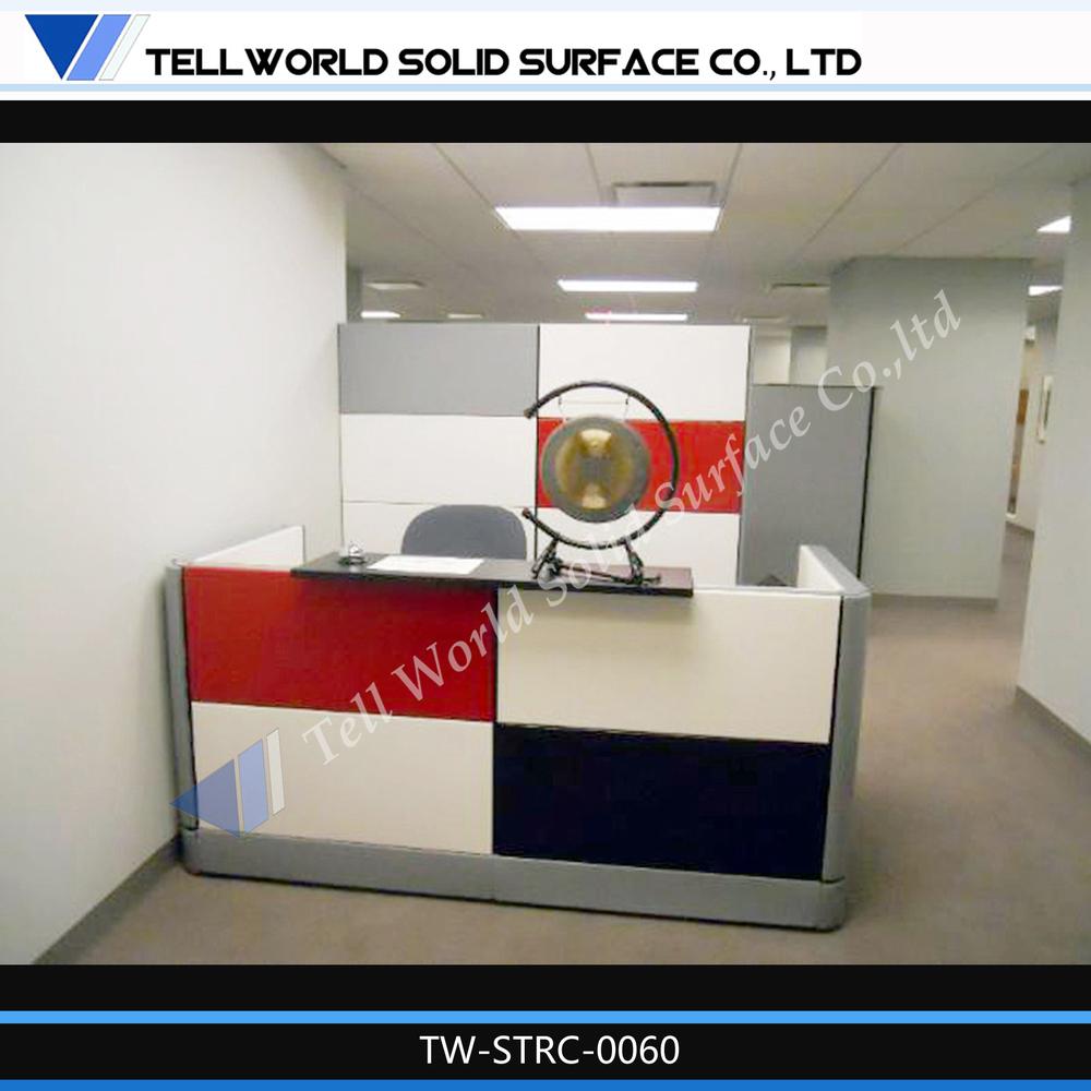 Vertel wereld toonaangevende producent van kantoormeubilair moderne acryl stevige oppervlakte - Furniture wereld counter ...