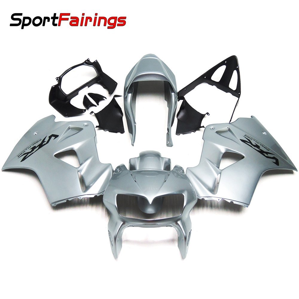 Sportfairings Complete Fairing Kits For Honda VFR800 VFR800Fi RC46 1998 1999 2000 2001 Fairings Full Cover Silver