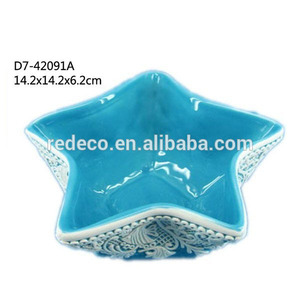 Ceramic ocean star shape candy bowl