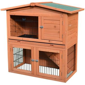 Animal Enclosure With Pull-Out Tray Outdoor Guinea Pig Pet House/Rabbit Hutch