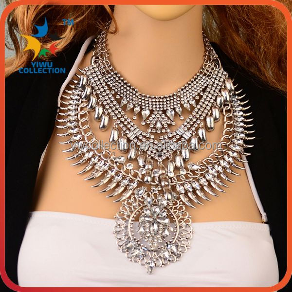 Yiwu Collection 3PCS MOQ gold plated latest model fashion new model necklace chain