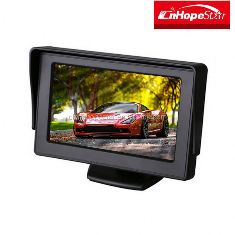 "New Hot selling 4.3"" car monitors headrest/small size lcd monitor"
