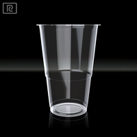 R280Y-T PLA 9oz 280ml biodegradable transparent plastic cups - eco friendly packaging