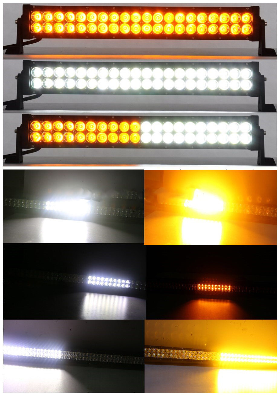 21 5 Inch 120w Blitz Led Light Bar White Amber With Remote Controller Product On