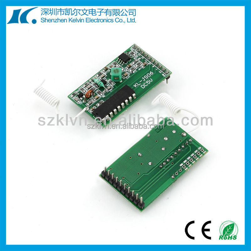 Learning code DC5V Low Power 433mhz rf data transmitter and receiver KL-YK06