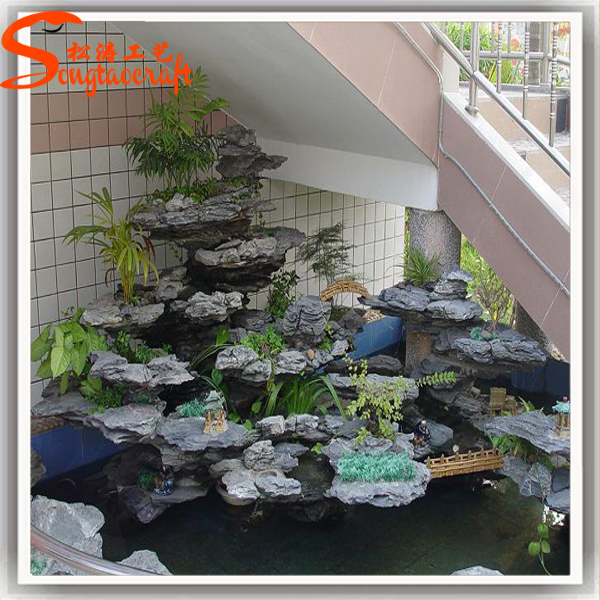 Indoor artificial decorative waterfall fountain