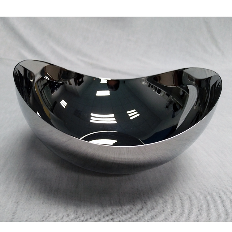 Customized Mirror Polished Stainless Steel  Restaurant Salad Bowl