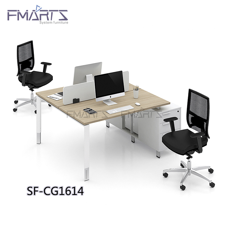 Trade Assurance Moderate Price Simple Design White Lacquer Table Office  Furniture Counter Workstations Modular