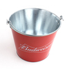 hot sale ice metal tin bucket for beer with handle for Popcorn and candy tin