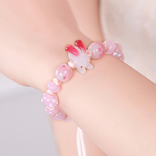 Welcomed handmake knitted bracelet with different size glass beads for women diy