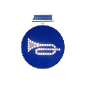 China Wholesale Products Led Solar Powered Reflective Road Traffic Sign Board Size