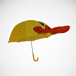 Yellow umbrella new design duck head children umbrella