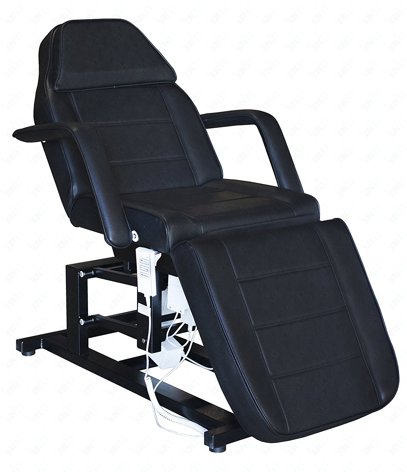 Electric Facial Chair, Massage Chair with Three 3 Motor (BLACK)
