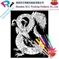 Chinese velvet coloring posters sale uk for kids