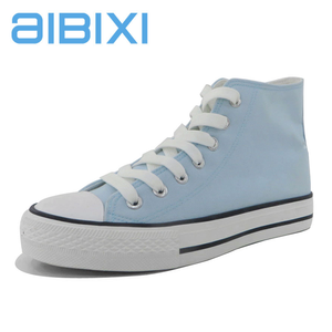 AIBIXI 2018 China Cheap Fashion Lace-Up Casual Canvas Shoes For Girls