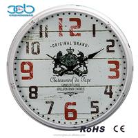 15 Inch Double Horses Retro Plastic Wall Clock