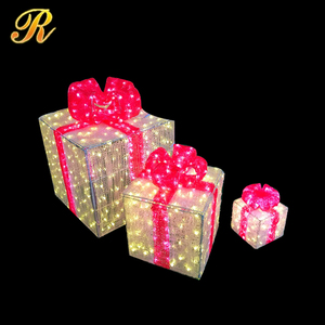 Holiday decorative LED lighted gift boxes for sale