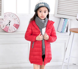 lepanxi brand new children's jacket of the boys and girls in the long style cotton jacket hoodies