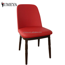 Wholesale imitative wood restaurant dining chair aluminium alloy cafe chair