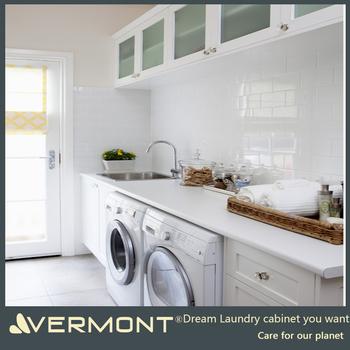 Modern Bathroom Vanity Laundry Base Cabinet Washing Machine Storage Cabinet  With Laundry Machine