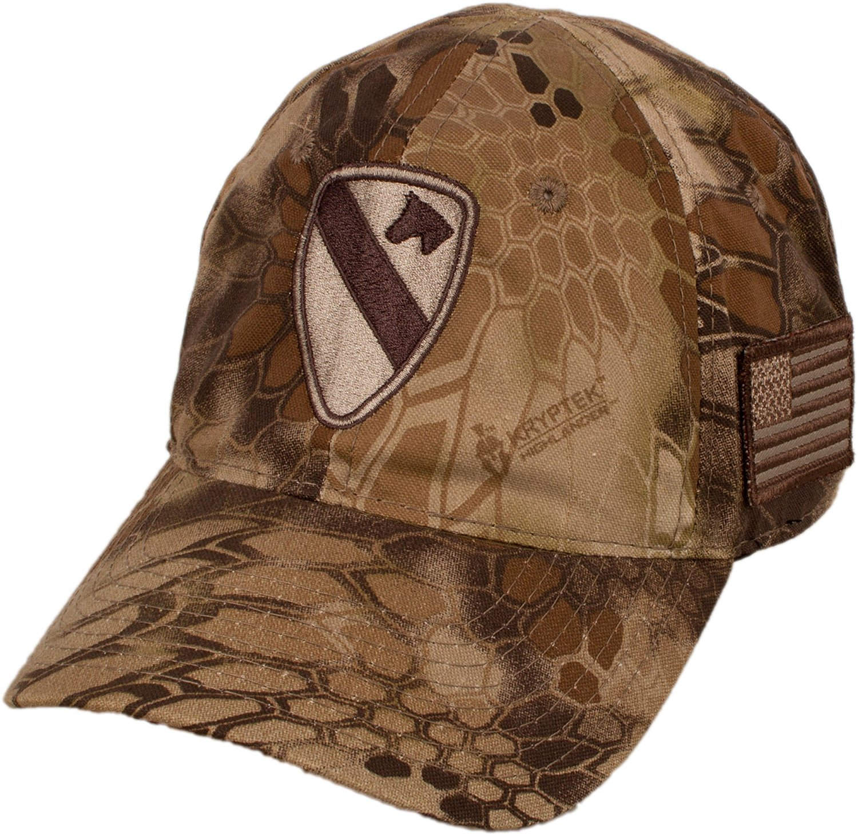 b7b9baa782d Get Quotations · Military Shirts U.S. Army 1st Cavalry Division Kryptek  Camo Cap