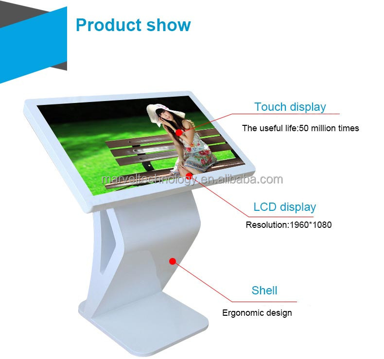 Commercial jukebox 42'' Stand Alone All In One Multi Touch Screen Kiosk