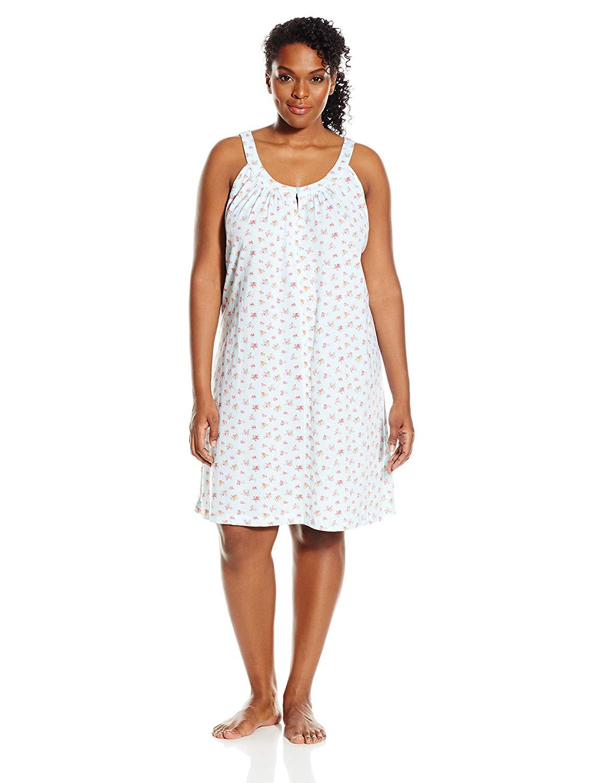 1648d82ae46 Get Quotations · Carole Hochman Women s Plus-Size Cotton Chemise