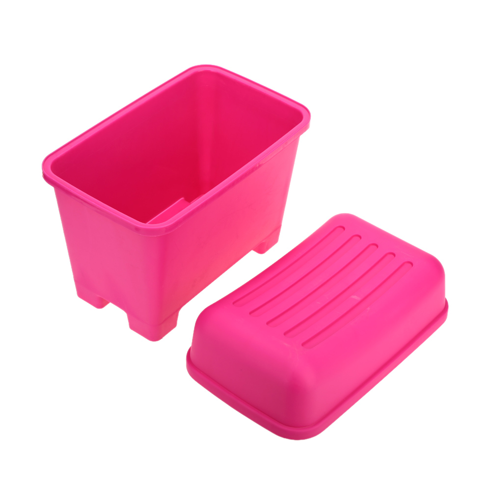 Rose Color Durable Large Capacity Plastic Storage Box Bins Stool Organizers Plastic Containers
