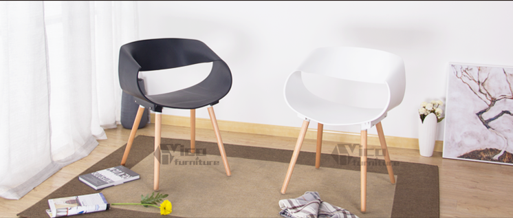 relaxing furniture. beauty parlour plastic seat wooden leg round modern design relaxing furniture chair r