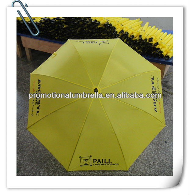 2015 yellow bright colored umbrella publicity gifts