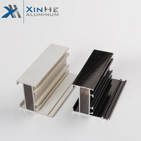 glass door 6063 t5 aluminium extrusion frame profile to make doors and windows