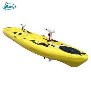 Multifunctional pedal drive fishing roto kayak sit on top double