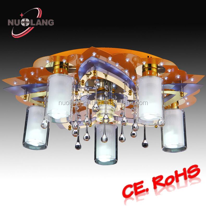 2015 modern indoor pendent light iron ceiling lamp/ceiling fan light kits