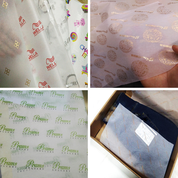 Custom printed logo gift tissue paper, clothing wrapping tissue paper