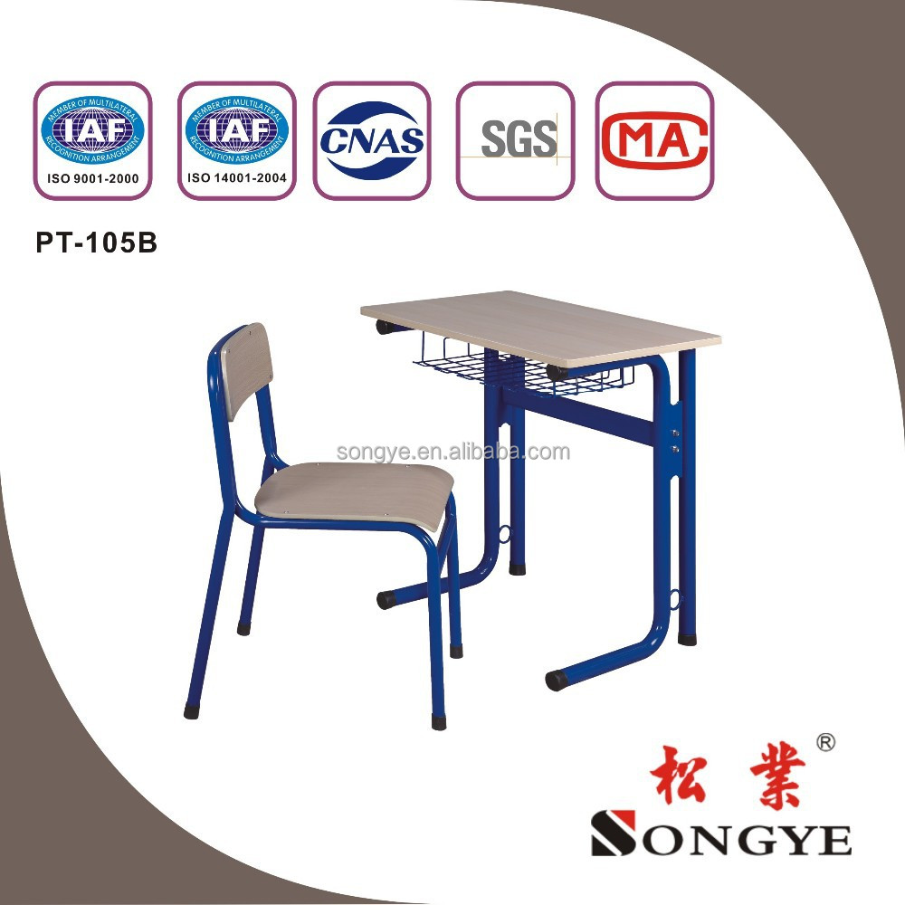 School furniture Fixed Single Desk & Chair PT-105B