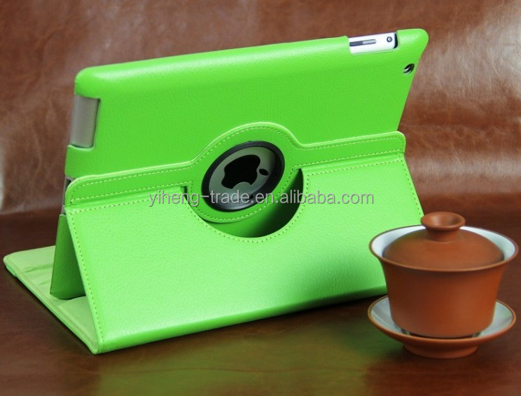 Hot Selling Smart Cover Case For iPad 2 3 4 Classic 360 Degree Rotating Cases Swivel Stand PU Leather holder