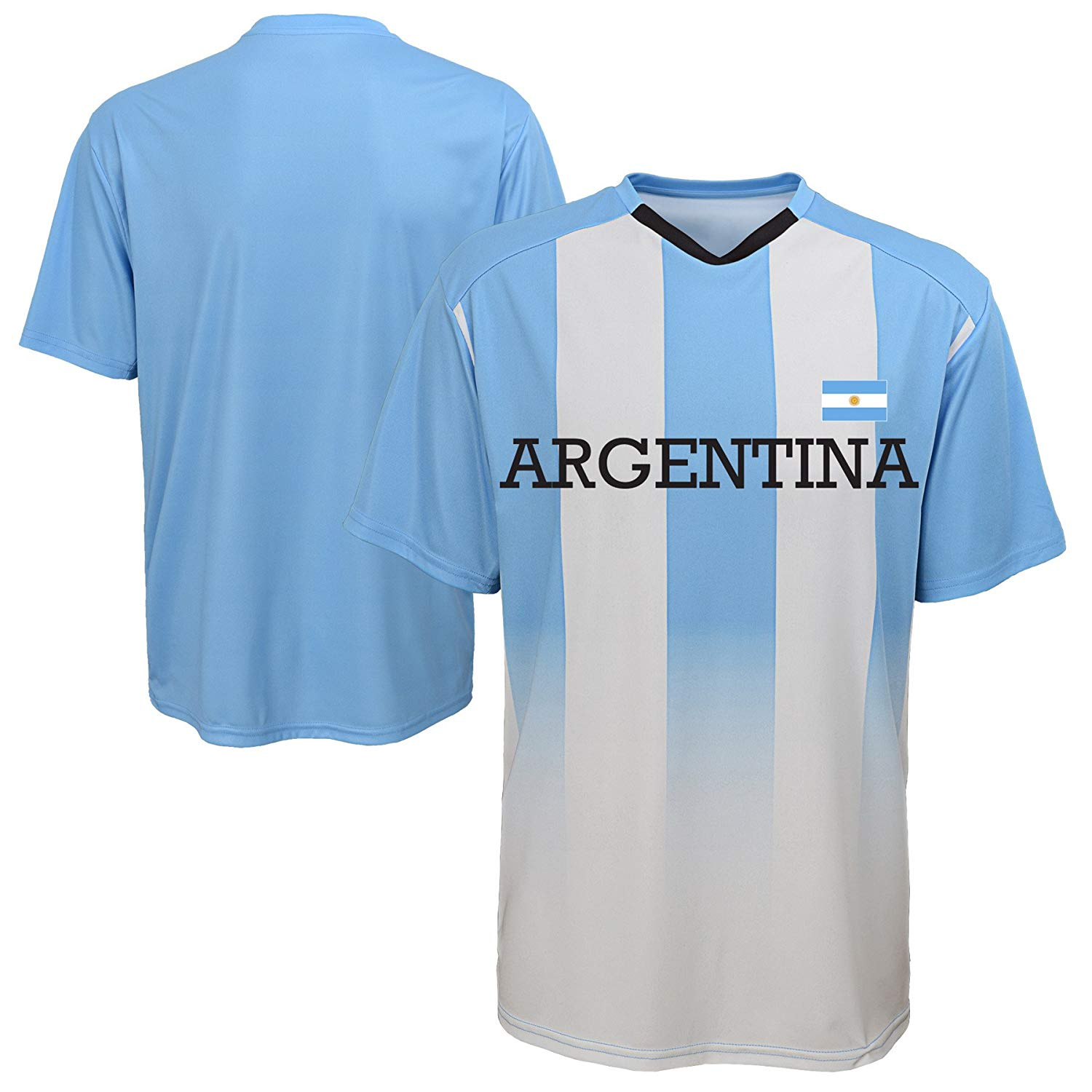 e2797210b0b Get Quotations · Argentina Gen2 World Cup Soccer White Blue Youth Shirt