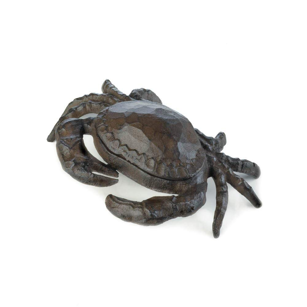 Summerfield Terrace Outdoor Key Hider, Cast Iron Metal Crab Key Hider Statue For Spare House Key