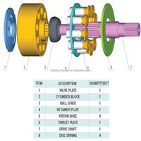 China-made for Daikin V70 Hydraulic pump spare parts