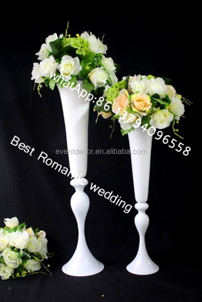 White Paint Metal Vase Centerpiece For Flowerflower Vase Wedding
