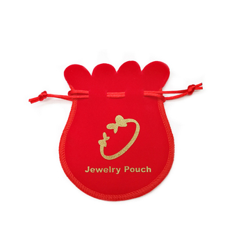 Custom logo printed velvet luxury jewelry pouch