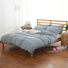 100% Cotton Knitted Jersey Fitted Sheet Set with Mixed Colors bed linen bedding set