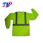 Safety Green Long Sleeves Work T-Shirts For Men