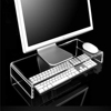 Strong Clear Acrylic Stand for Computer Monitor Screen or LCD Television Riser Shelf Plinth