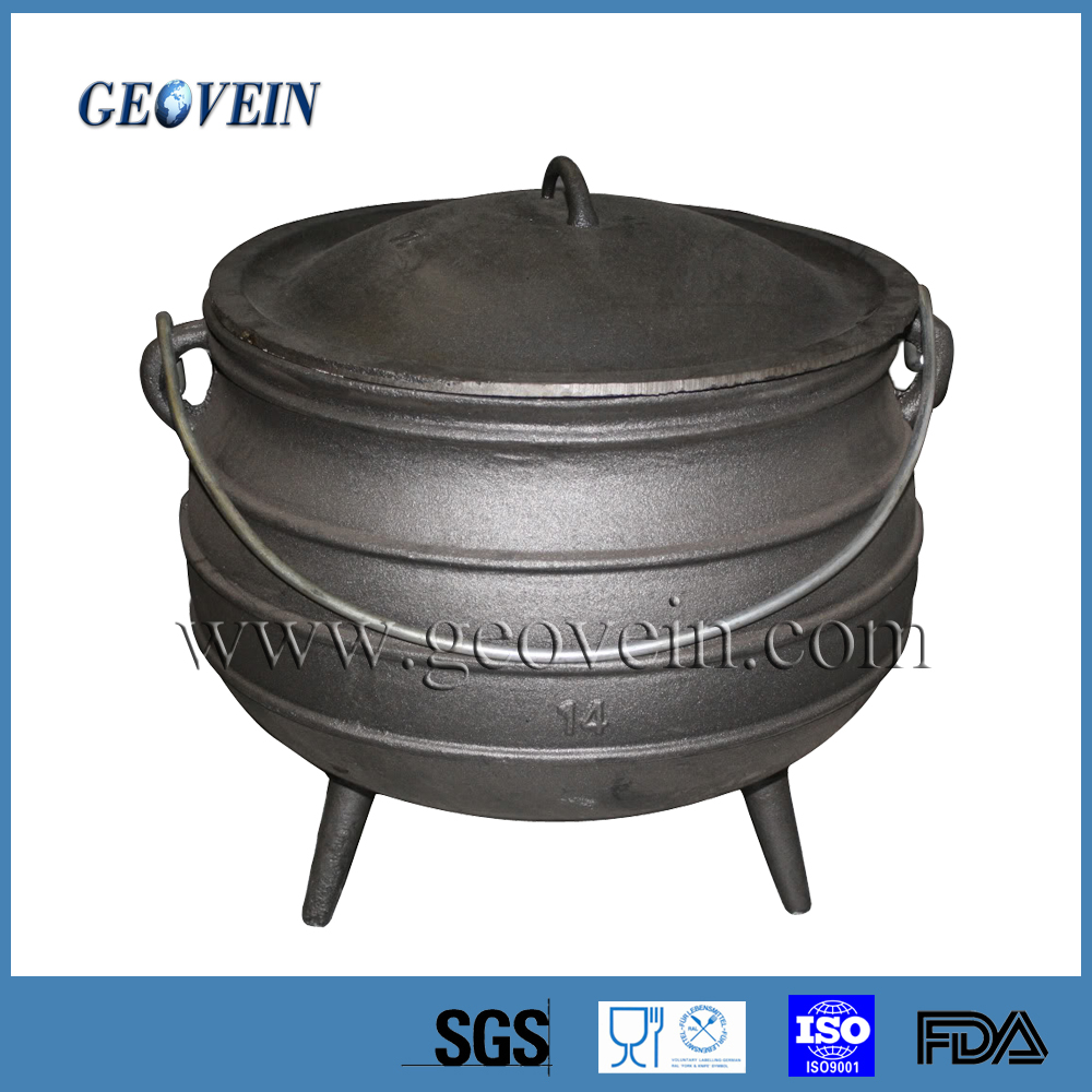 made in china good supplier three legs cast iron cookware dutch oven pot